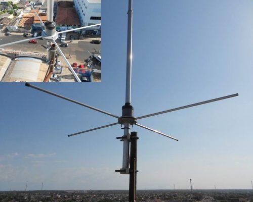 Antena plano terra em atuação