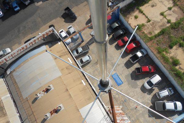 Antena plano terra em uso pos recuperação