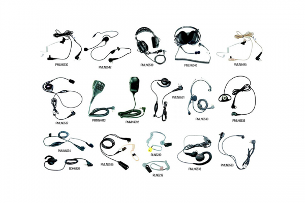 Lista dos acessórios dos Rádios DEP450 EP450 Áudio